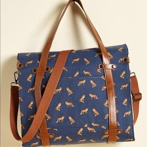 Camp Director Tote in Foxes by ModCloth